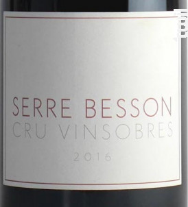 Vinsobres - DOMAINE SERRE BESSON - 2016 - Rouge