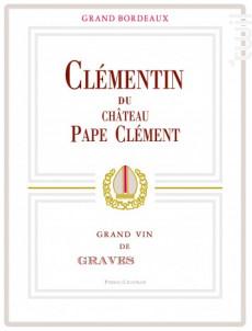 Le Clémentin de  Pape Clément - Château Pape Clément - 2016 - Rouge