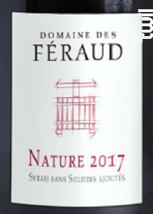 Nature - Domaine des Féraud - 2017 - Rouge