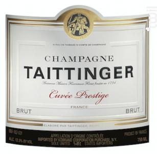 Brut Prestige - Champagne Taittinger - Non millésimé - Effervescent