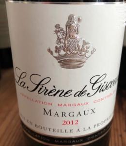 La Sirène de Giscours - Château Giscours - 2012 - Rouge