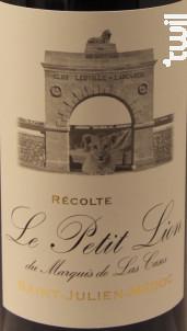 Le Petit Lion du Marquis de Las Cases - Château Léoville Las Cases - 2011 - Rouge