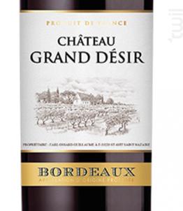 GRAND DESIR - Domaine Grand Désir - 2013 - Rouge