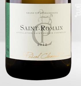 Saint-Romain Les Poillanges - Maison Pascal Clément - 2012 - Blanc