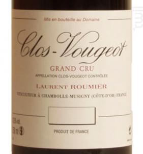 CLOS DE VOUGEOT Grand cru - Domaine Laurent Roumier - 2011 - Rouge