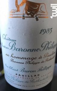 Château Mouton Baronne Philippe - Baron Philippe De Rothschild - 1983 - Rouge