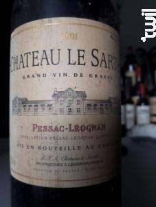 Château le Sartre - Château Le Sartre - 2009 - Rouge