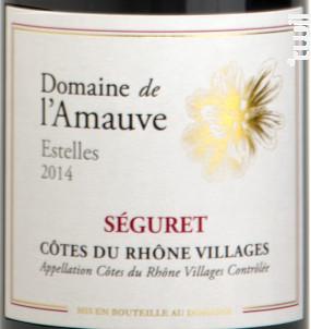Estelles - Domaine de l'Amauve - 2015 - Rouge