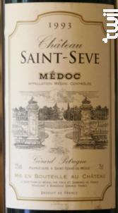 Château Saint Sève - Château Saint Sève - 1988 - Rouge