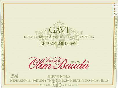 Gavi del commune di Gavi DOCG - OLIM BAUDA - 2019 - Blanc