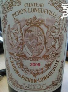 Château Pichon-Longueville Baron - Château Pichon-Longueville - 2009 - Rouge