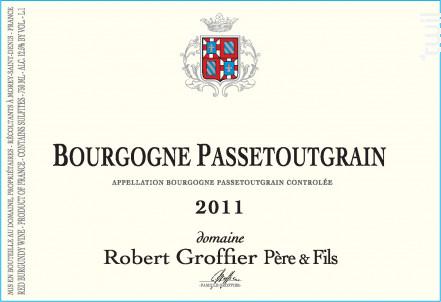 Bourgogne Passetoutgrain - Domaine Groffier Robert Père et Fils - 2016 - Rouge