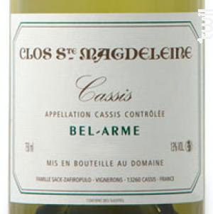 Bel-Arme - Clos Sainte Magdeleine - 2015 - Blanc