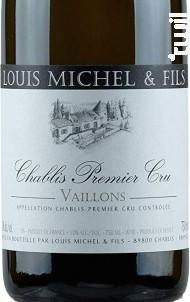 CHABLIS 1er cru Vailons - Louis Michel et Fils - 2016 - Blanc