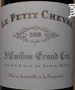 Le Petit Cheval - Château Cheval Blanc - 2007 - Rouge