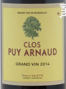 Clos Puy Arnaud Grand Vin - Clos Puy Arnaud - 2014 - Rouge