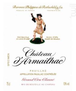 Château d'Armailhac - Domaines Baron Philippe de Rotschild - Château d'Armailhac - 2015 - Rouge