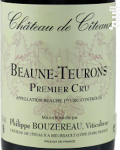 Beaune-Teurons Premier Cru - Château de Cîteaux - 2017 - Rouge