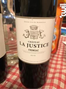 Château la Justice - Château La Justice - 2015 - Rouge