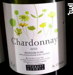 Chardonnay - Domaine Duboeuf - 2010 - Blanc