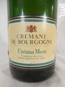 Crémant de Bourgogne - Domaine Christian Morin - Non millésimé - Effervescent