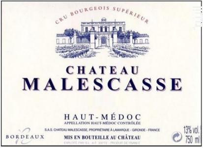 Château Malescasse - Château Malescasse - 2008 - Rouge