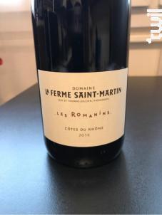 Les Romanins - Domaine La Ferme Saint-Martin - 2016 - Rouge