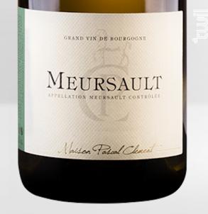 Meursault - Maison Pascal Clément - 2016 - Blanc