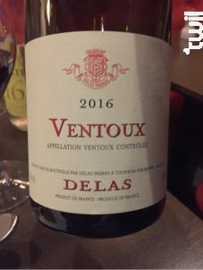 Cuvée Ventoux - Maison Delas - 2016 - Rouge