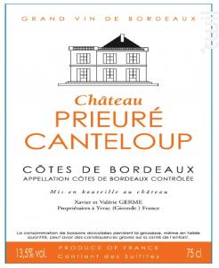 CHÂTEAU PRIEURE CANTELOUP - Château Prieuré Canteloup - 2015 - Rouge