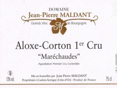 Corton-Maréchaude Grand Cru - Domaine Maldant Jean-Pierre - 2017 - Rouge