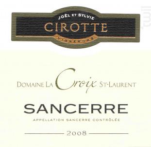Sancerre - Jöel et Sylvie Cirotte- Domaine La Croix Saint Laurent - 2017 - Blanc