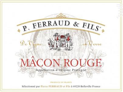 Mâcon Rouge - P. Ferraud & Fils - 2017 - Rouge