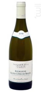Bourgogne Hautes Cotes De Beaune - Françoise et Denis Clair - 2016 - Blanc