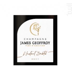 L'Instant Subtil Brut - Champagne James Geoffroy - Non millésimé - Effervescent