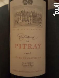 Château de Pitray - Château de Pitray - 2005 - Rouge