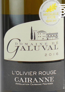 L'Olivier Rouge - Galuval - 2017 - Blanc