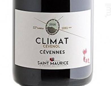 Cave Saint Maurice Climat Cevenol - Saint Maurice - 2015 - Rouge