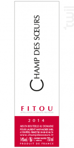Champ des Soeurs - Château Champ des Soeurs - 2018 - Rouge