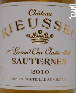 Château Rieussec - Domaines Barons de Rothschild - Château Rieussec - 2010 - Blanc