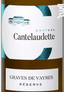 Blanc Réserve - Château  Cantelaudette - 2019 - Blanc