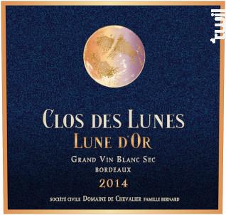 Lune d'Or coffret bois de 3 bouteilles - Clos des Lunes - 2014 - Blanc