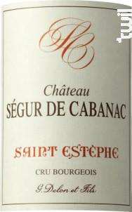 Château Ségur de Cabanac - Vignobles Delon- Château Ségur de Cabanac - 2015 - Rouge