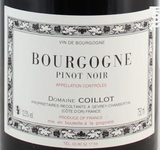 Bourgogne Pinot Noir - Domaine Coillot - 2016 - Rouge