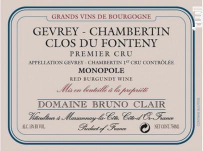 GEVREY CHAMBERTIN CLOS DU FONTENY