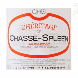 L'Héritage de Chasse-Spleen - Château Chasse-Spleen - 2011 - Rouge