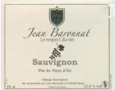 Sauvignon - Baronnat Jean - Non millésimé - Blanc