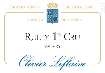 Rully Premier Cru Vauvry - Maison Olivier Leflaive - 2014 - Blanc