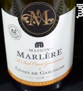 Côtes de Gascogne - Maison Marlère - 2018 - Blanc