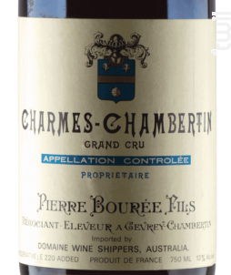 CHARMES CHAMBERTIN - Pierre Bourée Fils - 2001 - Rouge
